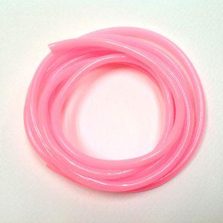 Plastic Tubing 4mm Pale Pink 2m
