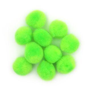 Pom Poms 18mm Lime Pkt 100