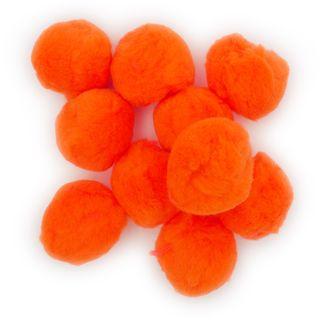 Pom Poms 18mm Orange Pkt 100