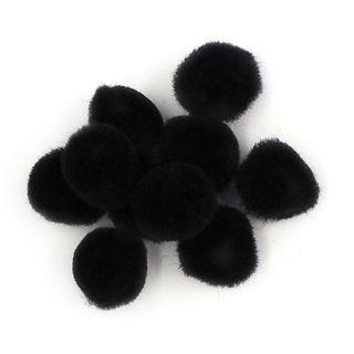 Pom Poms 13mm Black Pkt 100