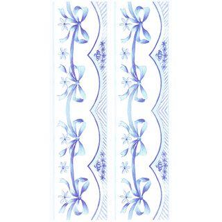 Dec/Borders Blue Bow Design
