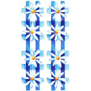 Dec/Borders Daisy Design Blue