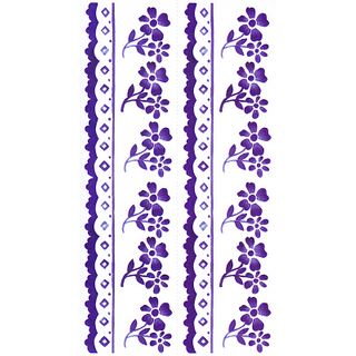 Dec/Borders Floral Design Blue