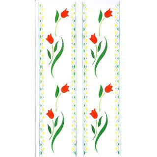 Dec/Borders Floral Design Red/Green