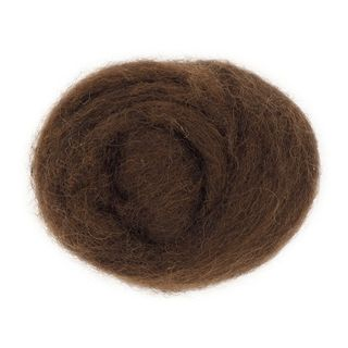 Combed Wool Brown 10g