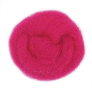 Combed Wool Hot Pink 10g