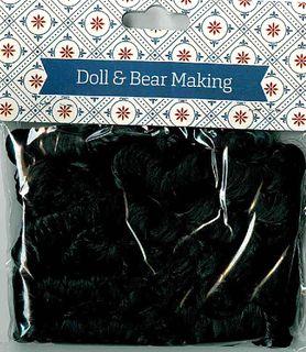 Doll Hair Curly Black 30g
