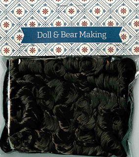 Doll Hair Curly Dark Brown 30g