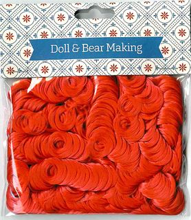 Doll Hair Curly Red 30g