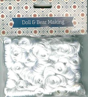 Doll Hair Curly White 30g
