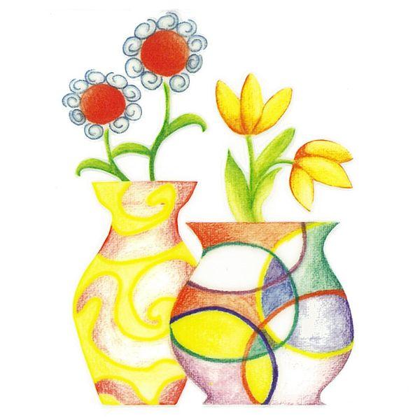 Dec/Transfers Flowers/Circle Vase