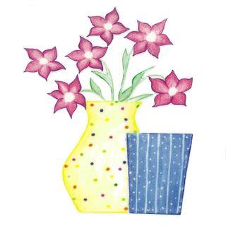 Dec/Transfers Flowers/Spot Vase