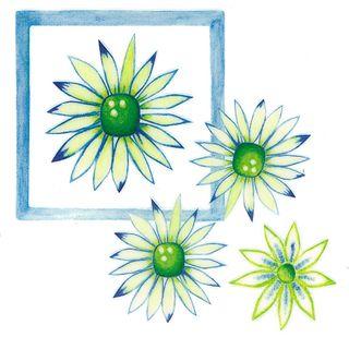 Dec/Transfers Yellow/Green Flowers
