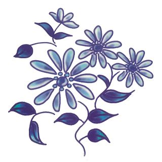 Dec/Transfers Blue Floral