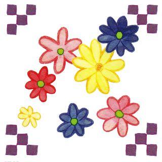 Dec/Transfers Multi Floral Design