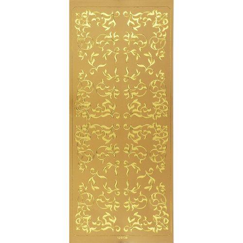 Sticker Borders Swirl Gold