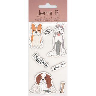 Jenni B Woof Dog Glitter 7Pcs