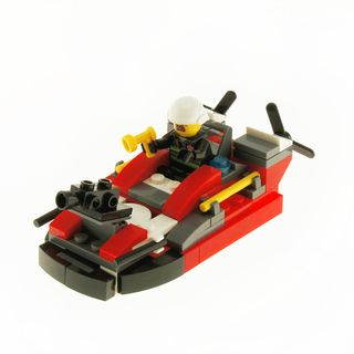 CITY FIRE RESCUE BOAT RED - 92PC