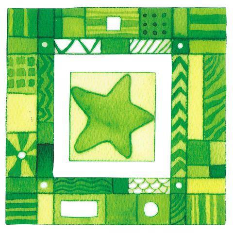 Dec/Transfers Green Starfish Design