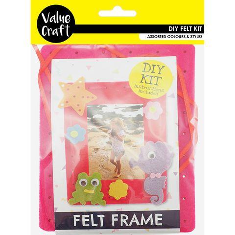 Craft Felt Frame Kit Pink-Seahorse 1Pk