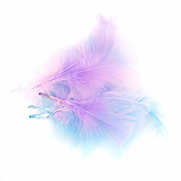 Craft Feathers Pink-Blue-Lilac 10G