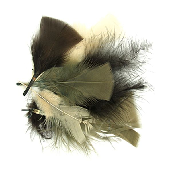 Craft Feathers Cream-Brown-Chocolate 10G