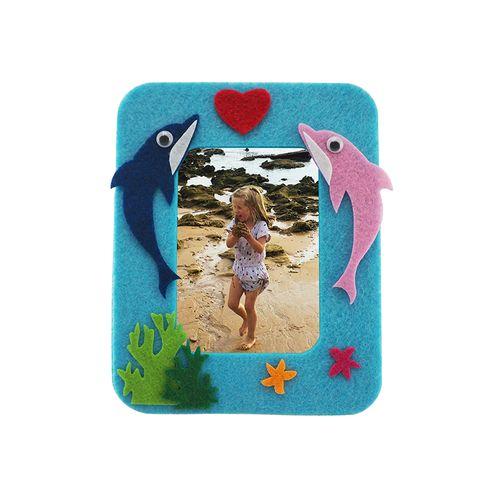 Craft Felt Frame Kit Blue-Dolphin 1Pk