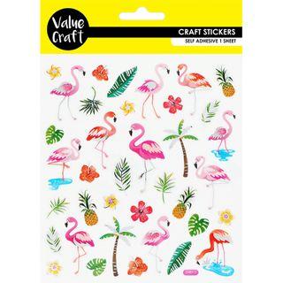 Craft Stickers Flamingo 1Sheet