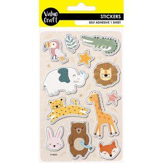 Craft Sticker Animals 1 Sheet