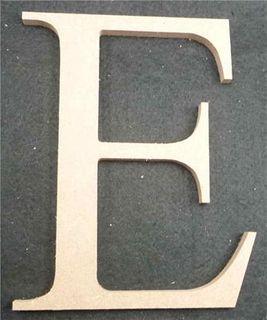 Wooden Alphabet Letter Medium E