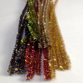 Chenille Tinsel 6mm Golds Pkt 50