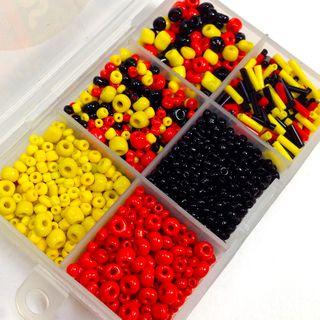 Bead Box Red/Yellow/Black 60g