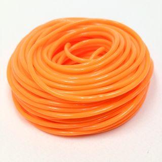 Plastic Tubing 1.6x1.8mm Neon ORN 100m
