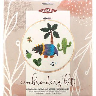 Embroidery Kit Cactus Dinosaur