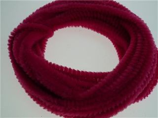 Chenille Stick Continuous 6mm HotPink 5m