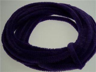 Chenille Stick Continuous 6mm Purple 5m