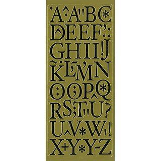 Sticker Alphabet & Punctuation Gold