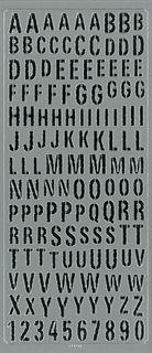 Sticker Alphabet Upper Case Silver