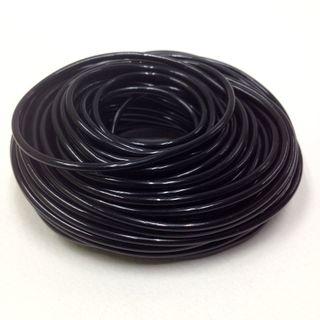 Plastic Tubing 1.6x1.8mm Black 100m