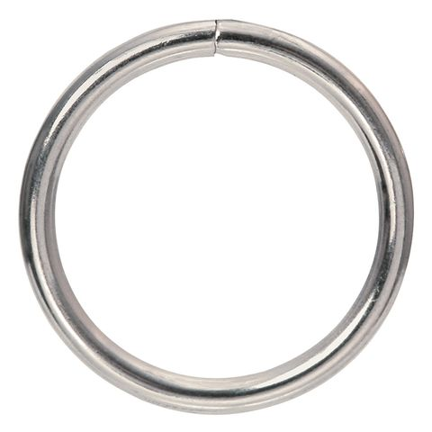 Ring Mac 25mm Silver Pkt 6