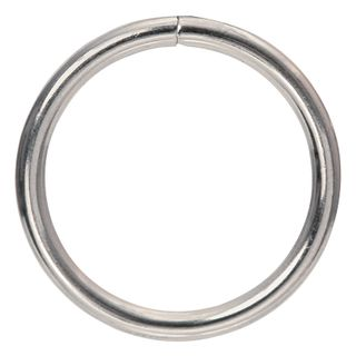 Ring Mac 25mm Silver Pkt 6