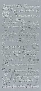 Stickers Assorted Wishes Silver