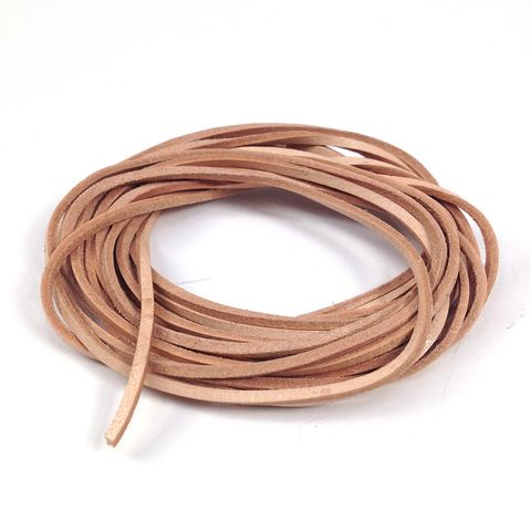 Leather Thonging 1mm Flat Natural 2m