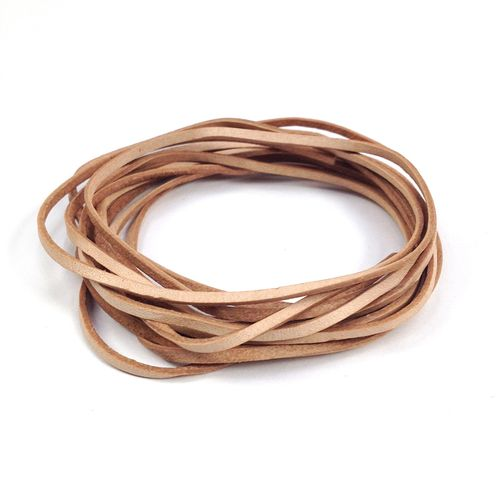 Leather Thonging 1.5mm Flat Natural 2m