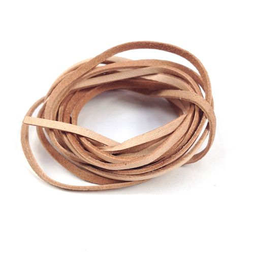 Leather Thonging 2mm Flat Natural 2m
