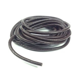 Leather Thonging 3mm Round Brown 2m