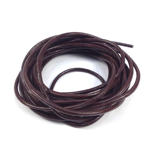 Leather Thonging 1.5mm Round Brown 2m