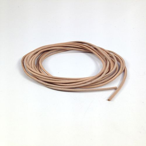 Leather Thonging 1.5mm Round Natural 2m
