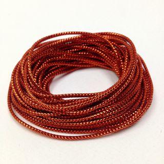 Metallic Cord 8ply Red 4.8m