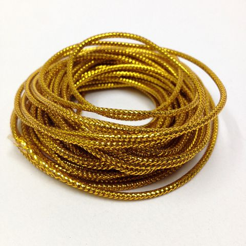 Metallic Cord 8ply Gold 4.8m